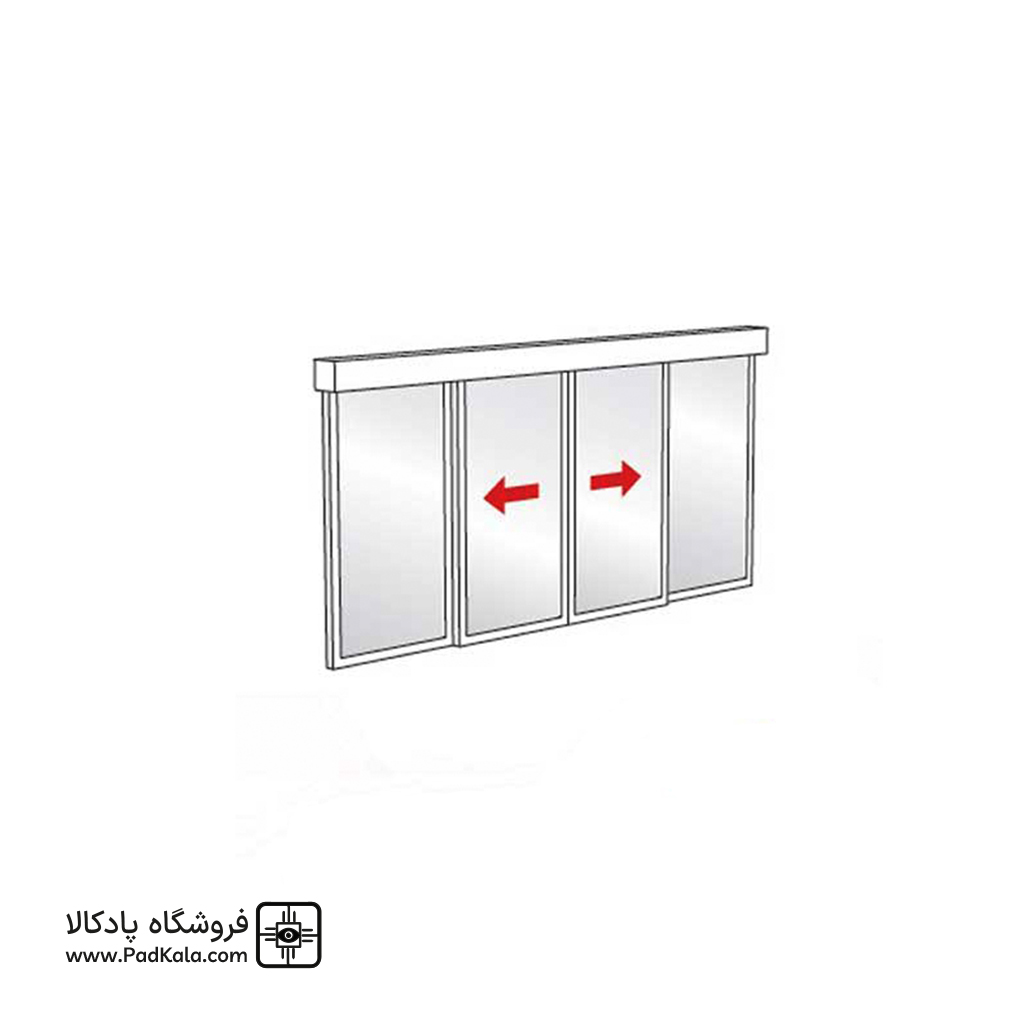 Double sided sliding glass automatic door